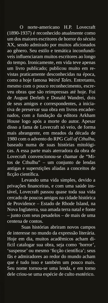 O Mundo Fantástico de H. P. Lovecraft – The Inside Front Flap
