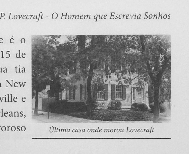O Mundo Fantástico de H. P. Lovecraft Biography Page xxxv with Will Hart Photo Detail