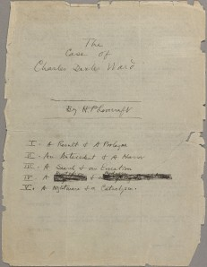 The Case of Charles Dexter Ward Title Page