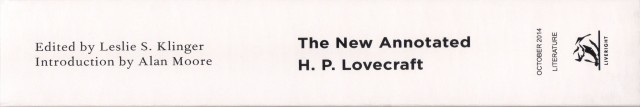 The New Annotated H. P. Lovecraft Spine - Rotated