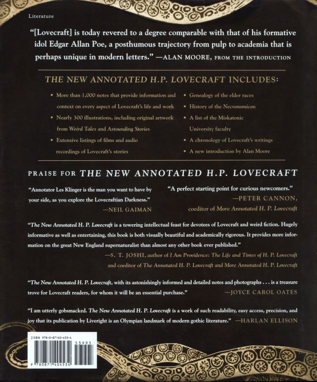 The New Annotated H. P. Lovecraft Rear Final